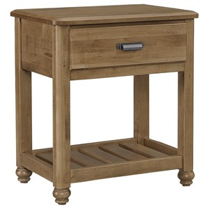 Solid Wood Night Table - 1 Drawer