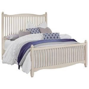 Solid Wood Queen Slat Bed