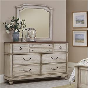 Transitional Dresser & Mirror