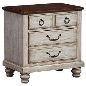Transitional Night Stand - 2 Drawers