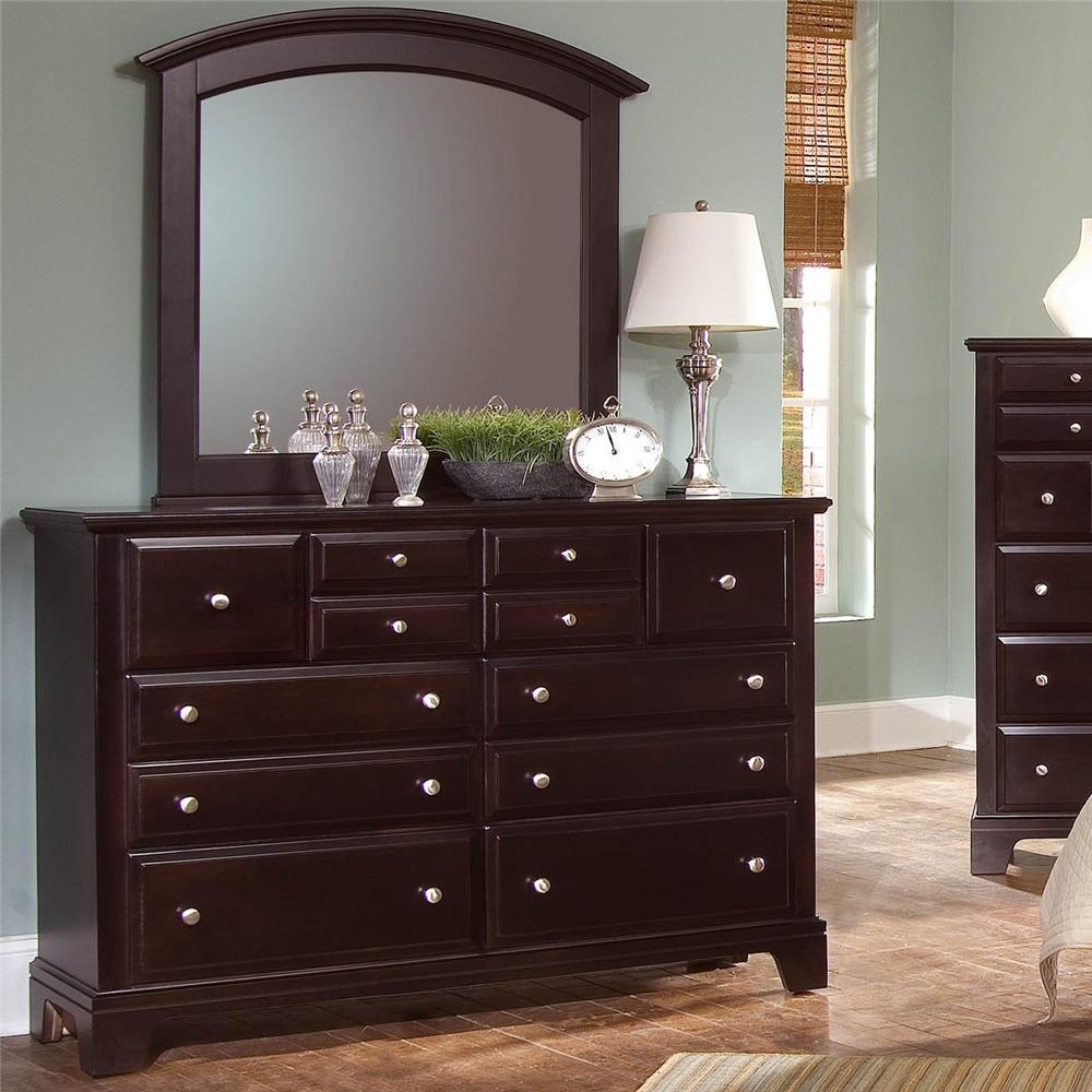 Hamilton/Franklin 7 Drawer Dresser with Landscape Mirror by Vaughan Bassett at Mueller Furniture
