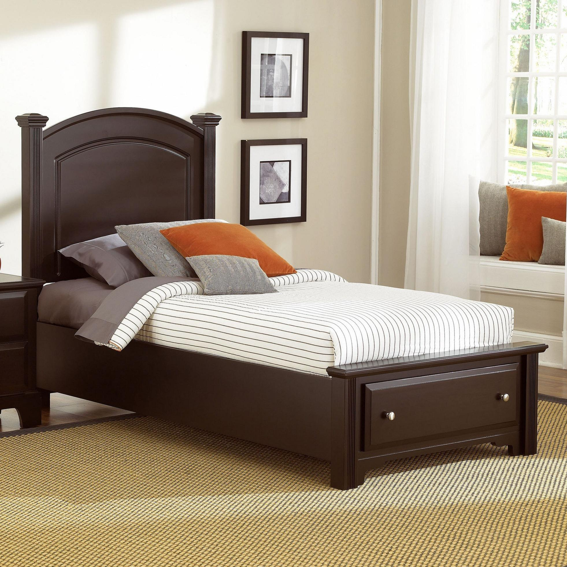 Hamilton/Franklin Twin Panel Storage Bed by Vaughan Bassett at Johnny Janosik