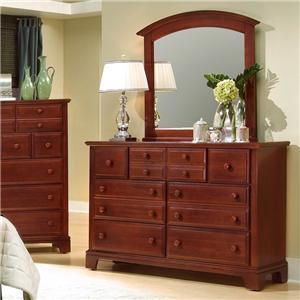 Triple Dresser with Rectangular Mirror