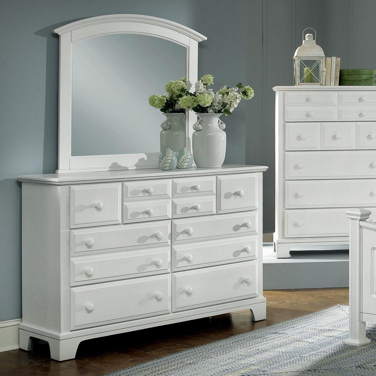 Hamilton/Franklin 7 Drawer Dresser with Landscape Mirror by Vaughan Bassett at Northeast Factory Direct