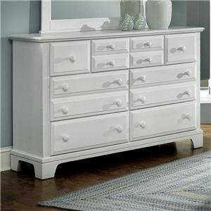 Triple Dresser with 7 Drawers