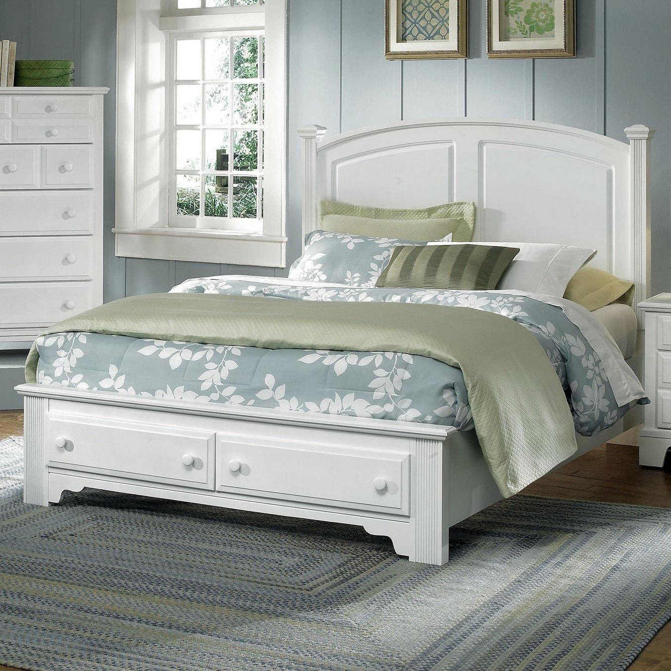 Hamilton/Franklin Queen Panel Storage Bed by Vaughan Bassett at Northeast Factory Direct