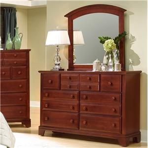 Triple Drawer Dresser with Landscape Mirror