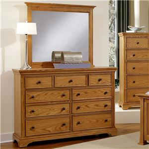 Vaughan Bassett Forsyth 7 Drawer Dresser and Mirror