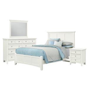 Queen Bed, Dresser, Mirror, and Nighstand
