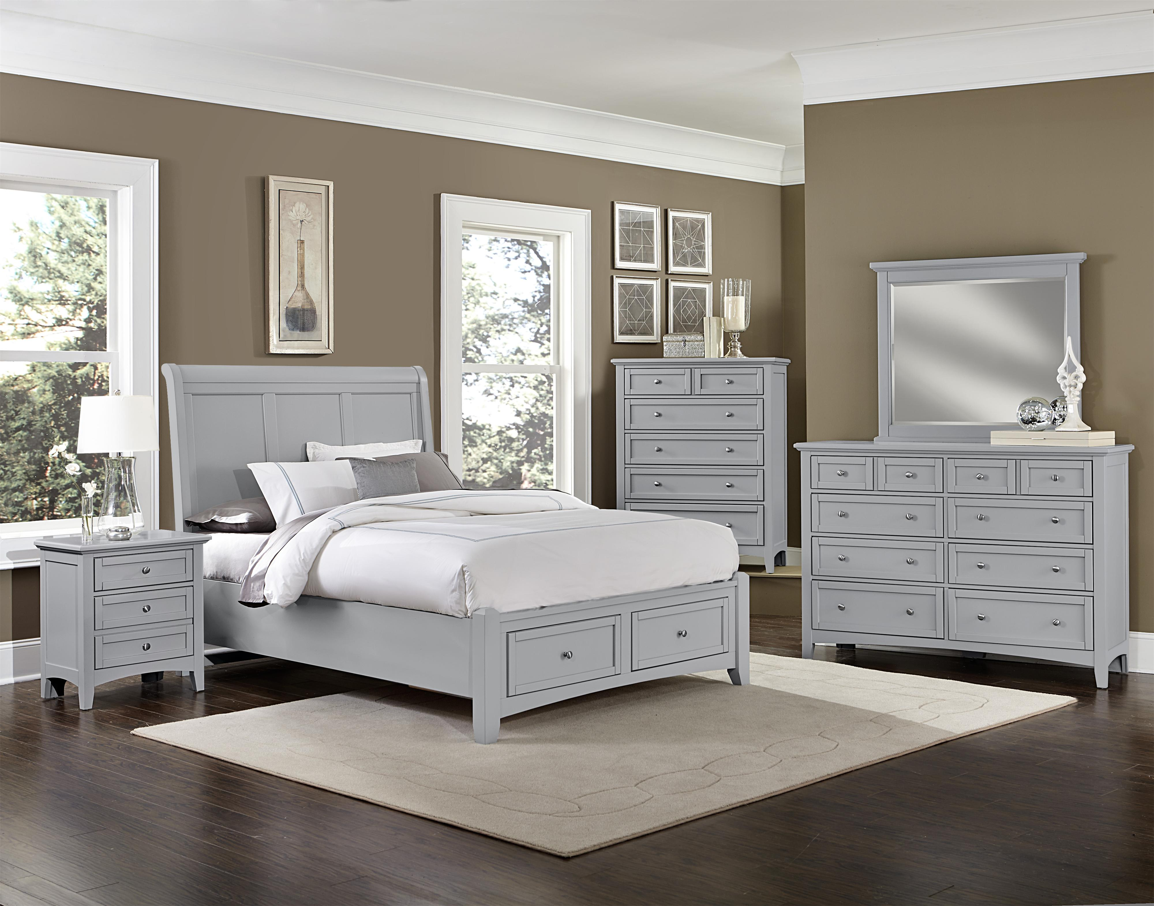 Bonanza Full Bedroom Group by Vaughan Bassett at EFO Furniture Outlet