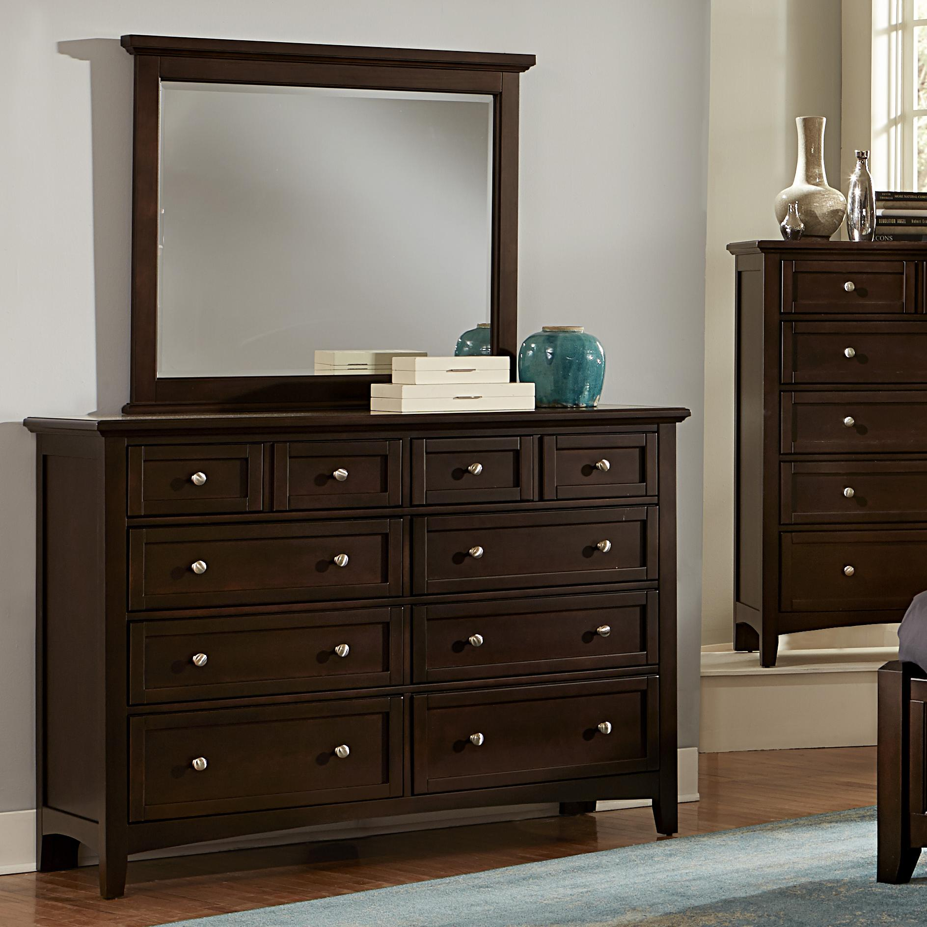 Bunkhouse Triple Dresser & Landscape Mirror by Vaughan-Bassett at Crowley Furniture & Mattress