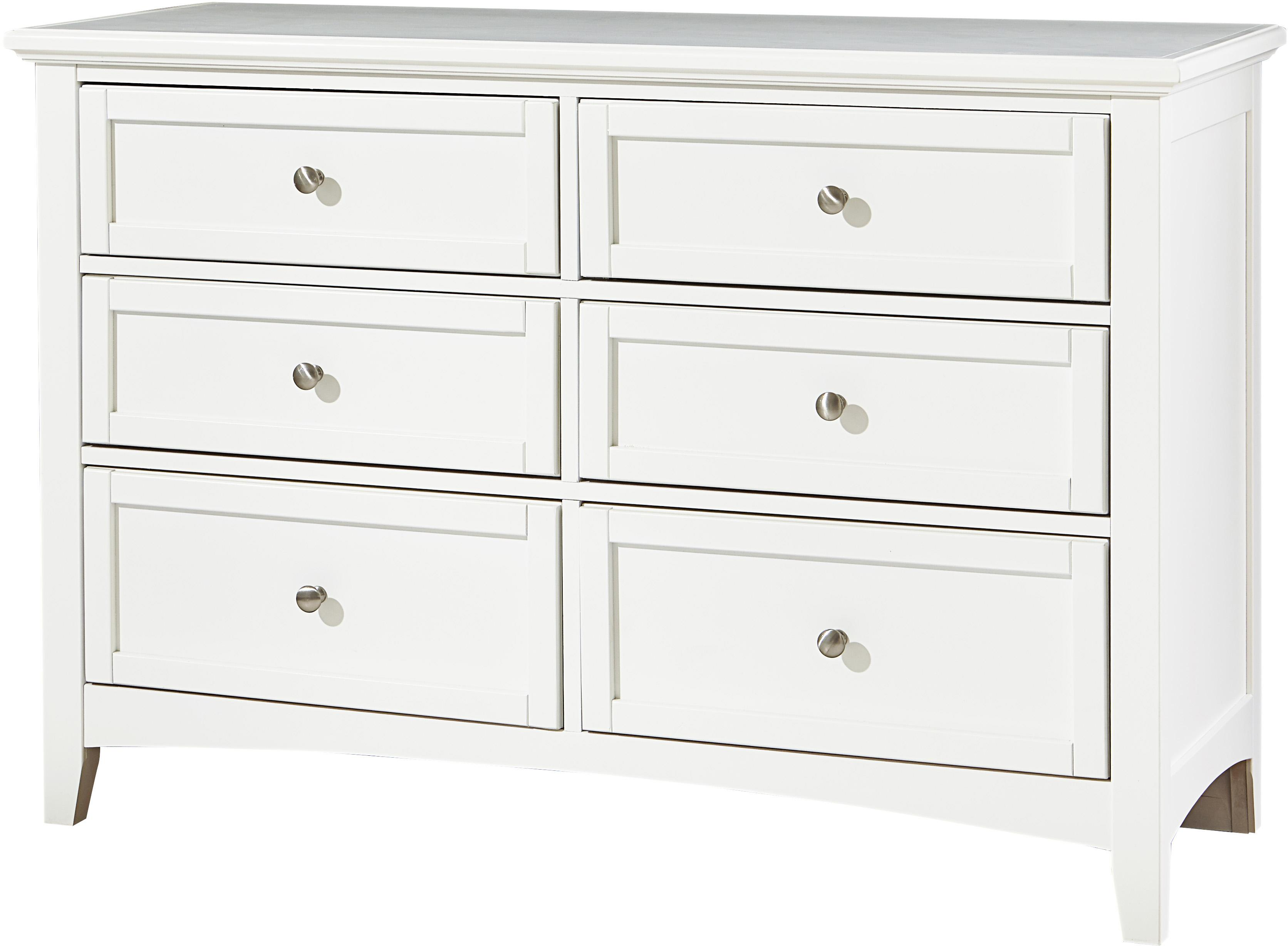 Bonanza Double Dresser - 6 Drawers by Vaughan Bassett at VanDrie Home Furnishings