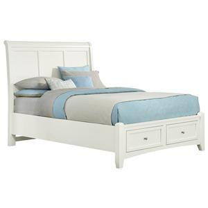 King Sleigh Storage Bed with 2 Drawers