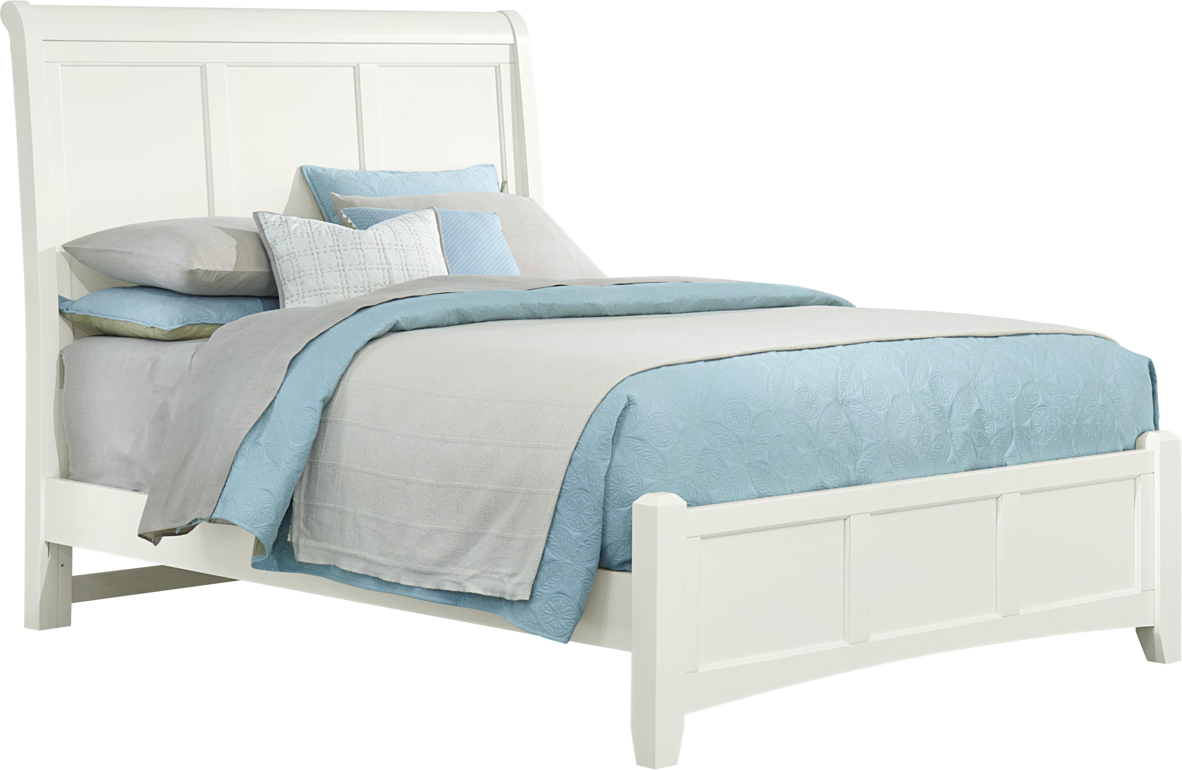 Bonanza King Sleigh Bed with Low Profile Footboard by Vaughan Bassett at Westrich Furniture & Appliances