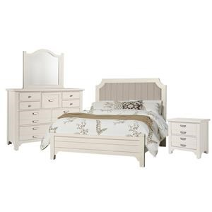 King Bed, Dresser, Mirror, Nightstand