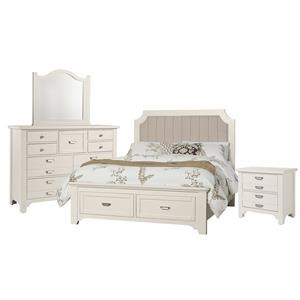 Queen Bed, Dresser, Mirr