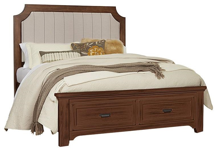 Bungalo Home King Upholstered Storage Bed by Vaughan Bassett at Johnny Janosik