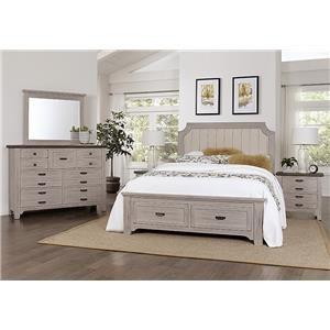 Queen Storage, Dresser, Mirror, Nightstand