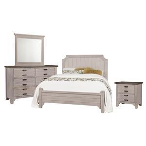 King Bed, Dresser, Mirror, Night