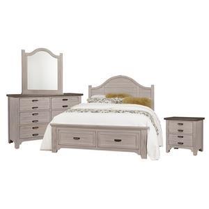 Queen Arch, Dresser, Mirror, Nightst