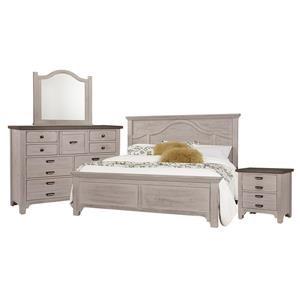 Queen Mantel, Dresser, Mirror, Nightstand