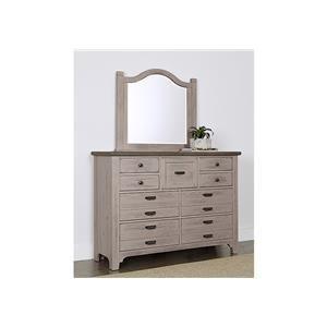 9 Drawer Dresser and Master Arch Mirror