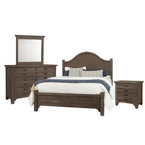 Queen Arch, Dresser, Mirror, Nightstand