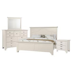 Queen Mantel, Dresser, Mirror, Nighstand