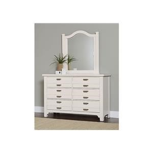 Double Dresser and Arch Mirror