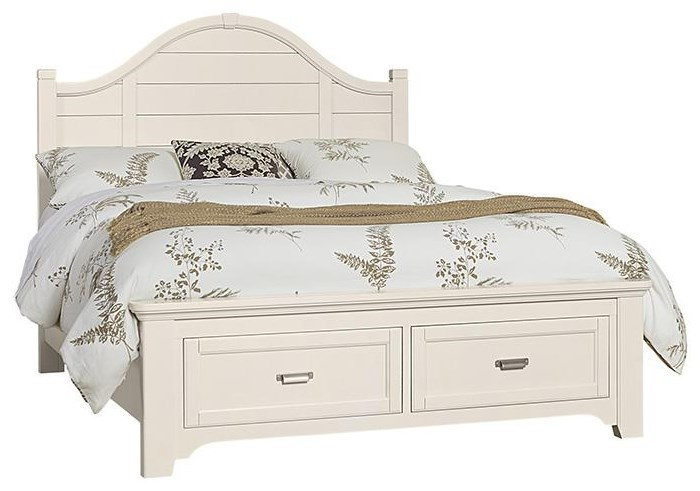 Bungalo Home King Arch Storage Bed by Vaughan Bassett at Johnny Janosik