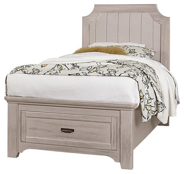 Bungalo Home Full Upholstered Storage Bed by Vaughan Bassett at Johnny Janosik