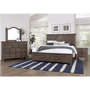 Queen Bed, Dresser, Mirror, Nightstand