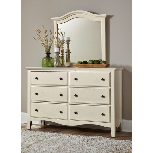 Casual Retreat Dresser and Mirror Set by Vaughan Bassett at Johnny Janosik