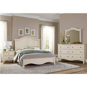 King Arch Bed, Dresser, Mirror, Nightstand