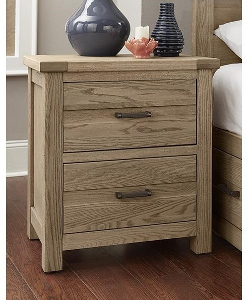 Centennial Solids 2 Drawer Night Stand by Vaughan Bassett at Johnny Janosik