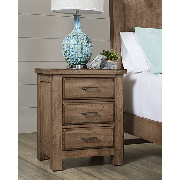 Chestnut Creek 3-Drawer Nightstand by Vaughan Bassett at Furniture Superstore - Rochester, MN