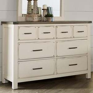 Relaxed Vintage Solid Wood 6-Drawer Dresser with Soft-Close Drawers