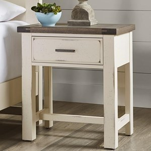 Relaxed Vintage Solid Wood 1-Drawer Nightstand