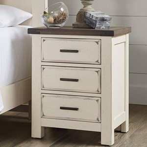 Relaxed Vintage Solid Wood 3-Drawer Nightstand