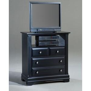 Media Cabinet - 2 Drawers, Open Shelf