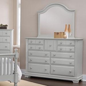 Triple Dresser and Mirror