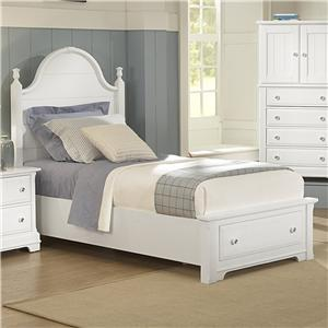 Vaughan Bassett Cottage Twin Panel Storage Bed