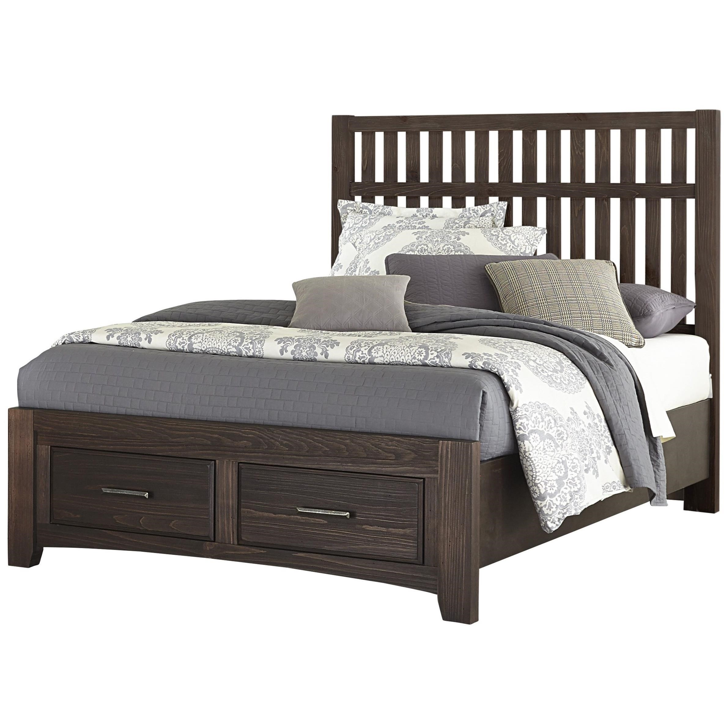 Cottage Too Queen Storage Bed  by Vaughan Bassett at Lapeer Furniture & Mattress Center