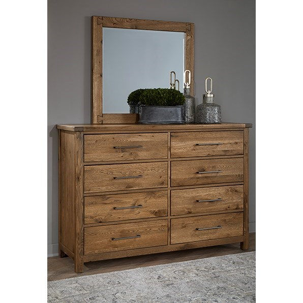 Dovetail  Dresser and Mirror Set  by Vaughan Bassett at Powell's Furniture and Mattress