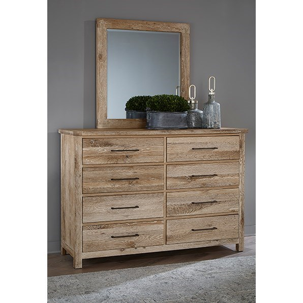 Dovetail  Dresser and Mirror Set  by Vaughan Bassett at Steger's Furniture