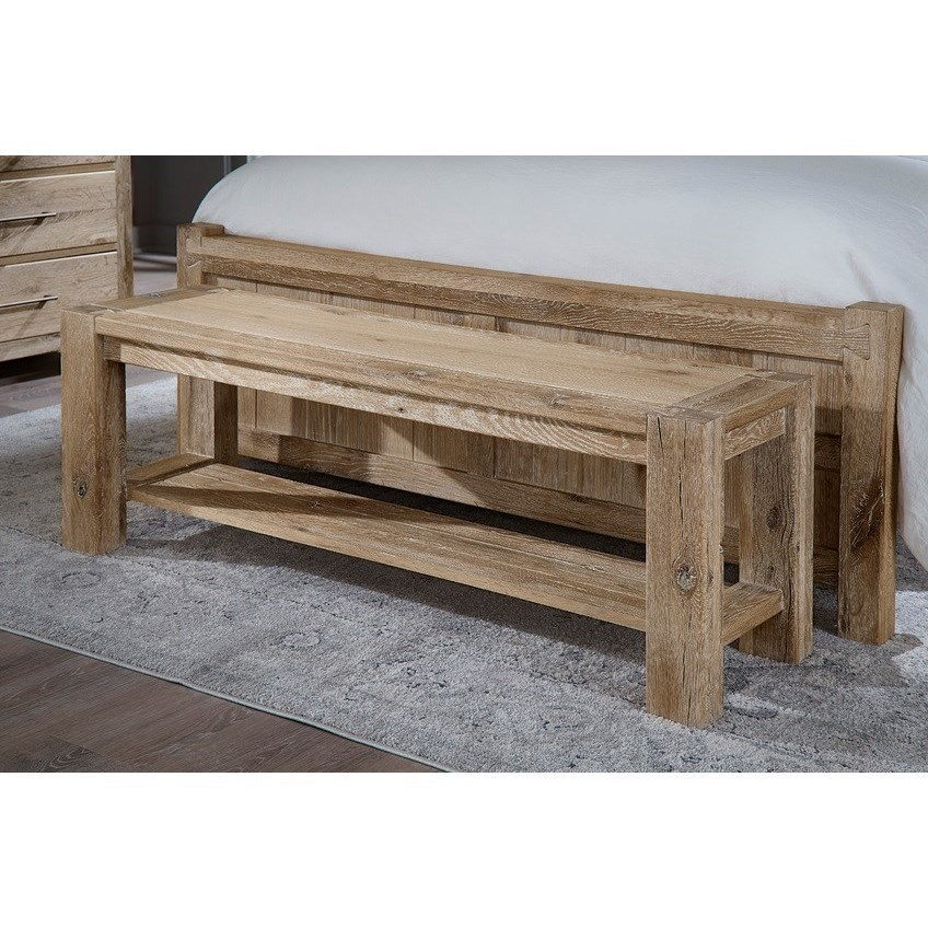 Dovetail  Accent Bench  by Vaughan Bassett at Zak's Home