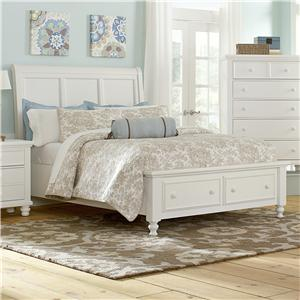 Vaughan Bassett Ellington Queen Sleigh Storage Bed
