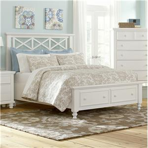 Vaughan Bassett Ellington Queen Garden Storage Bed