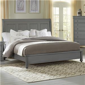 Queen Bed w/ Sleigh Headboard & Low Profile Footboard