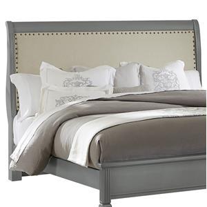 Queen Upholstered Headboard (Linen)